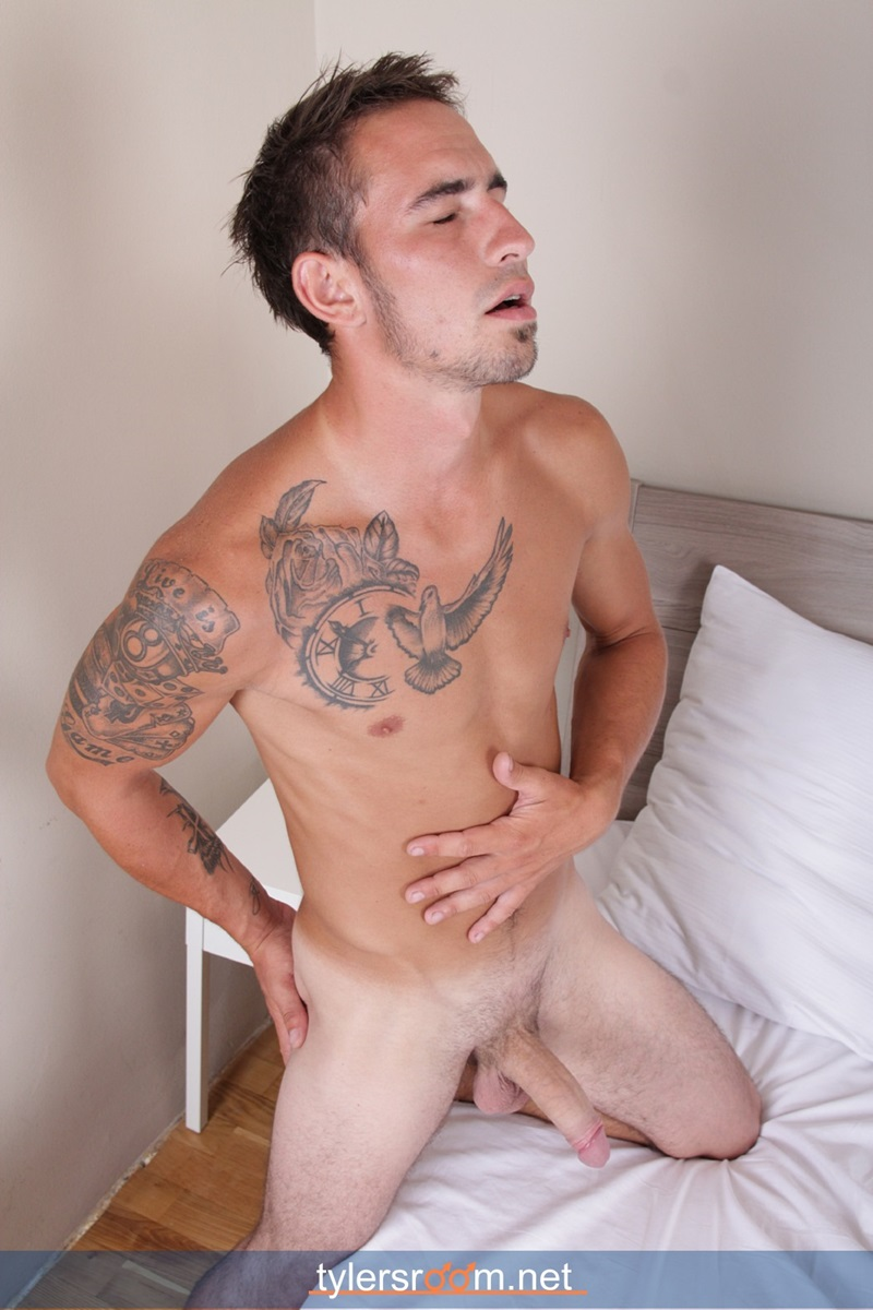 TylersRoom-naked-young-man-Sexy-27-year-old-Chris-Reed-tattooed-ripped-toned-body-big-uncut-cock-jerking-muscle-hunk-12-gay-porn-star-sex-video-gallery-photo
