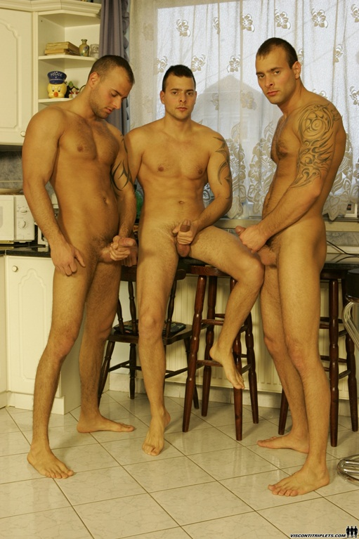 Visconti Triplets and Joe Justice in hot triplet orgy!