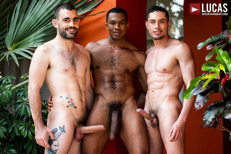 Men for Men Blog Ashton-Labruce-Sean-Xavier-Boy-Friend-Max-Arion-anal-fucked-huge-11-inch-cock-LucasEntertainment-001-gay-porn-pictures-gallery Ashton Labruce sits watching and stroking while BF Max Arion fucks black beauty Sean Xavier hot asshole Lucas Entertainment
