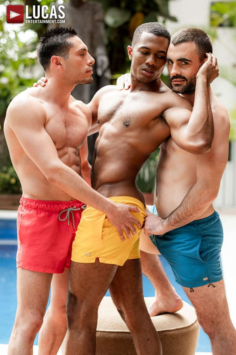 Men for Men Blog Ashton-Labruce-Sean-Xavier-Boy-Friend-Max-Arion-anal-fucked-huge-11-inch-cock-LucasEntertainment-007-gay-porn-pictures-gallery Ashton Labruce sits watching and stroking while BF Max Arion fucks black beauty Sean Xavier hot asshole Lucas Entertainment