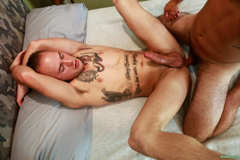 Men for Men Blog Cole-Weston-Richard-Buldger-hard-erect-dick-sucking-fucks-the-cum-hot-asshole-ActiveDuty-014-gay-porn-pictures-gallery Cole Weston bends Richard Buldger and pushes his hard cock deep into Richard's tight ass making him moan with pleasure Active Duty