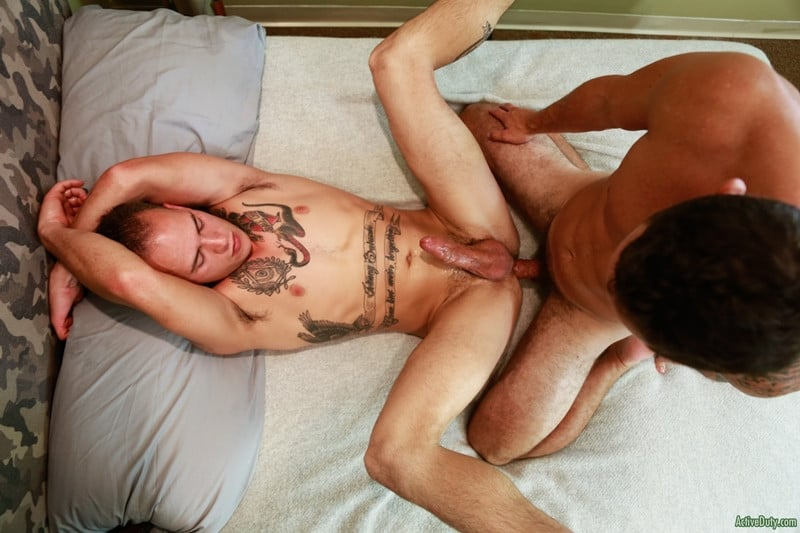 Men for Men Blog Cole-Weston-Richard-Buldger-hard-erect-dick-sucking-fucks-the-cum-hot-asshole-ActiveDuty-015-gay-porn-pictures-gallery Cole Weston bends Richard Buldger and pushes his hard cock deep into Richard's tight ass making him moan with pleasure Active Duty
