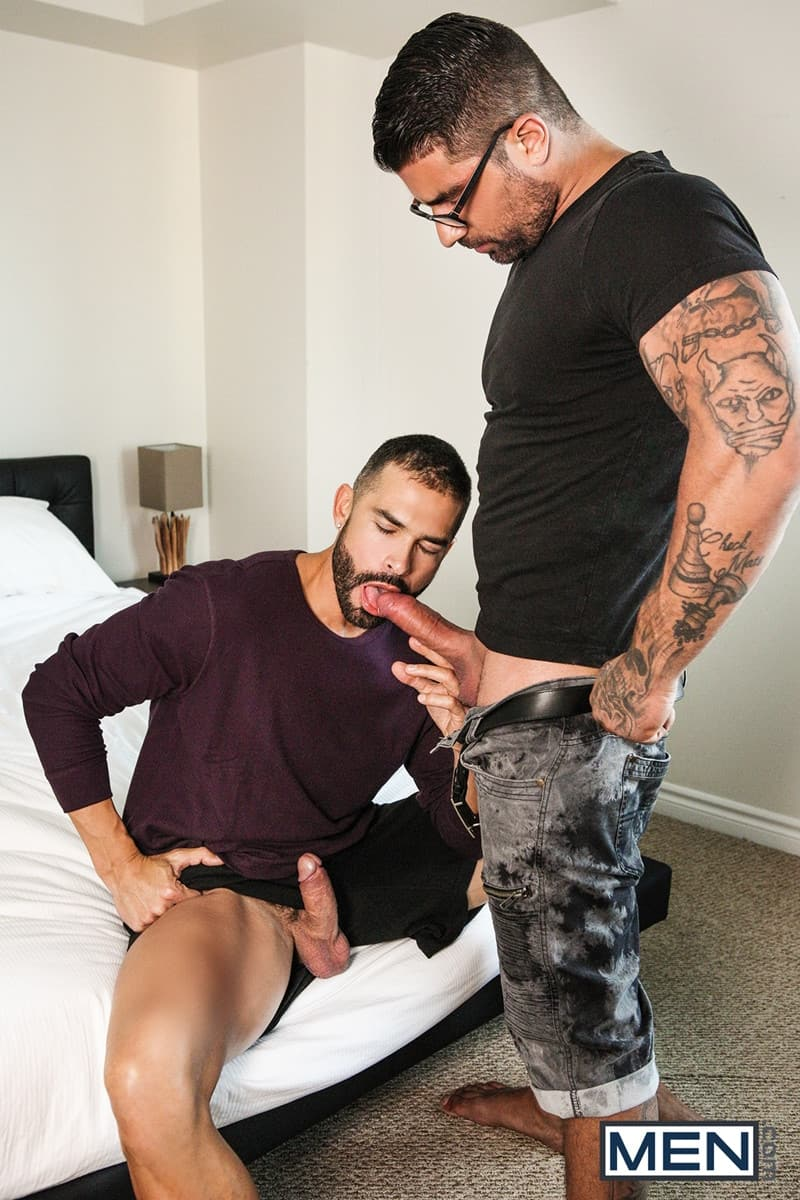 Men for Men Blog D-O-Ryan-Bones-big-muscle-hunk-blowjob-sucking-huge-hard-cock-deep-throat-Men-007-gay-porn-pictures-gallery Dark-haired D.O. gives Ryan Bones the best blowjob of his life sucking his hard cock deep down his throat Men