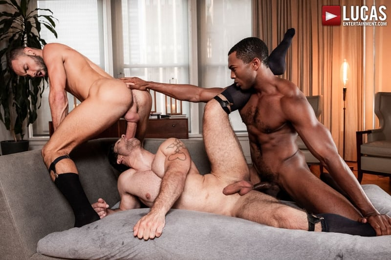 Men for Men Blog Sean-Xavier-Lucas-Leon-Jeffrey-Lloyd-Interracial-anal-fuck-suck-fest-big-cock-LucasEntertainment-019-gay-porn-pictures-gallery Interracial anal fuck and suck fest Sean Xavier and Lucas Leon persuade Jeffrey Lloyd to get his big beautiful cock out Lucas Entertainment
