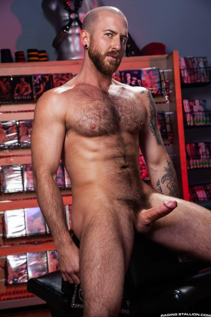 Men for Men Blog Teddy-Bear-Nigel-March-naked-Hairy-hunk-fucked-huge-cock-at-Raging-Stallion-006-gay-porn-pictures-gallery Horny stud Teddy Bear rolls over on his back and lets Nigel March slam his ass Raging Stallion