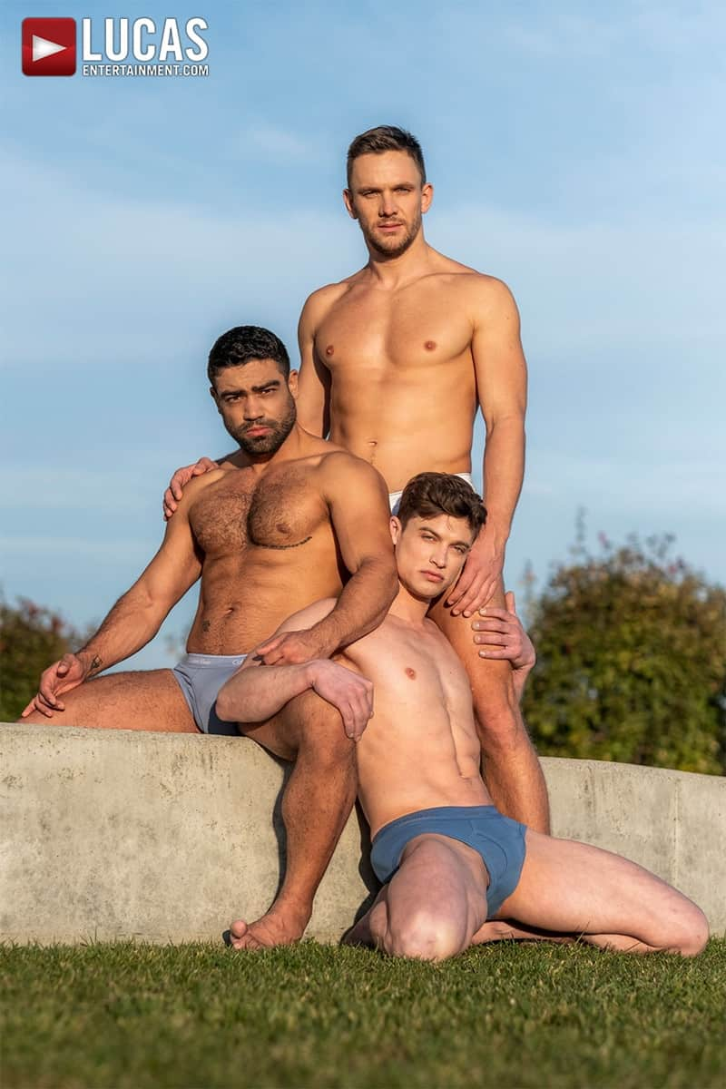 Men for Men Blog Gay-Porn-Pics-002-Andrey-Vic-Wagner-Vittoria-Ruslan-Angelo-Hot-gay-threesome-huge-dicks-double-fuck-hot-muscle-ass-LucasEntertainment Hot gay threesome Andrey Vic and Wagner Vittoria's huge dicks double-fuck Ruslan Angelo's hot muscle ass Lucas Entertainment