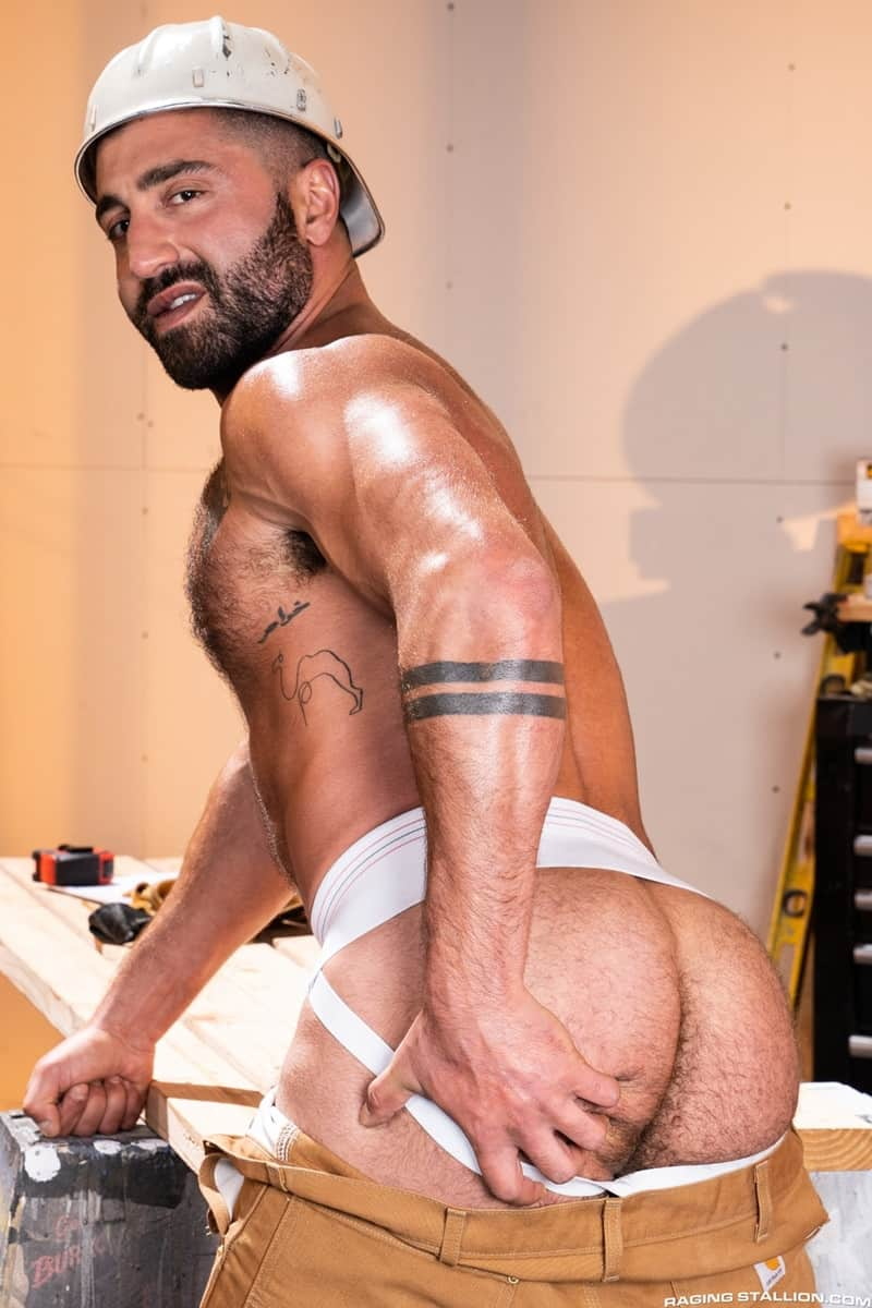 Men for Men Blog Gay-Porn-Pics-006-Adam-Ramzi-Sharok-Hairy-muscle-hunk-anal-fuck-huge-raw-cock-deep-ass-crack-RagingStallion Hairy muscle hunk Adam Ramzi slides his huge raw cock deep into Sharok's ass crack Raging Stallion