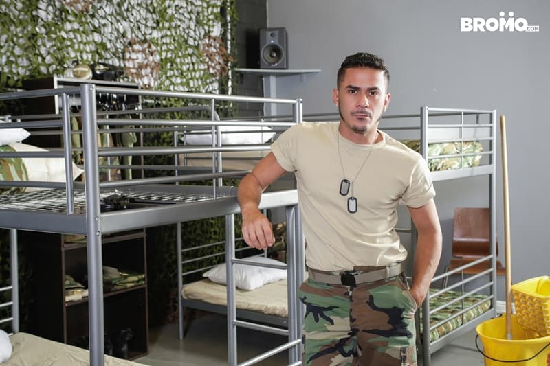 Cesar-Xes-hungry-bottom-bitch-John-Rene-huge-cock-fuck-ass-hole-army-barracks-Bromo-006-Gay-Porn-Pics